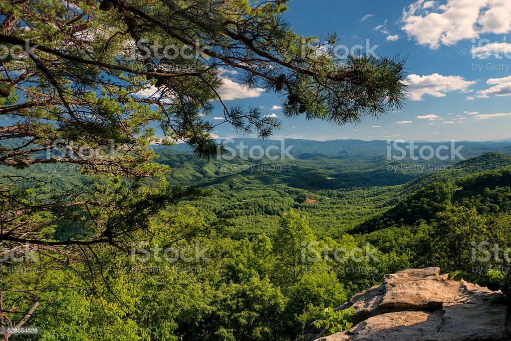 Look Rock on Foothills Parkway West in GSMNP, TN, USA stock photo