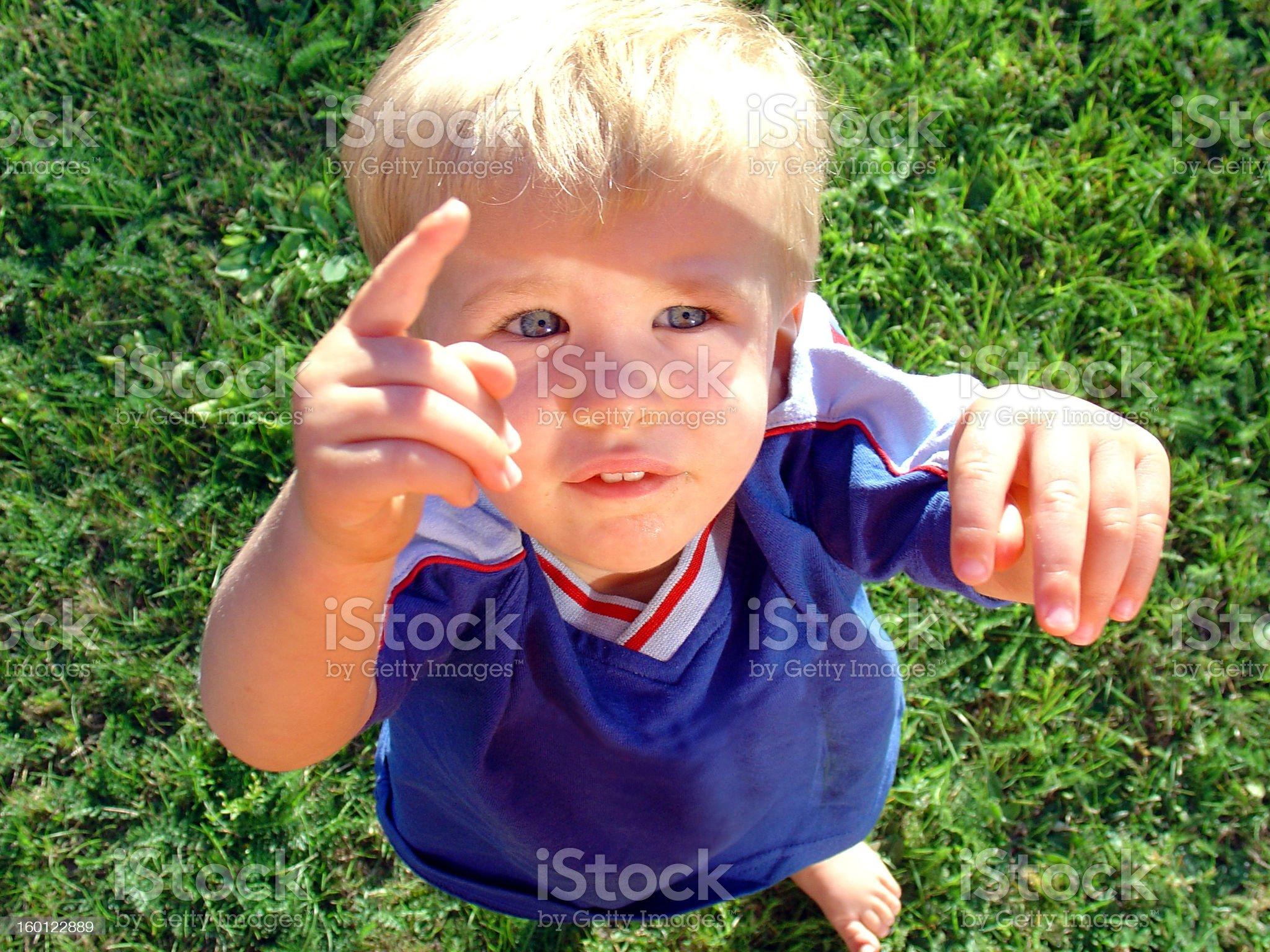 Look there! Up in the sky royalty-free stock photo