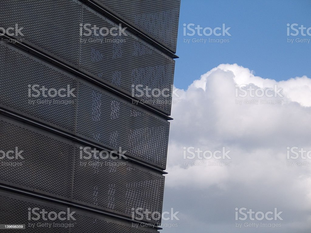 Look through building royalty-free stock photo