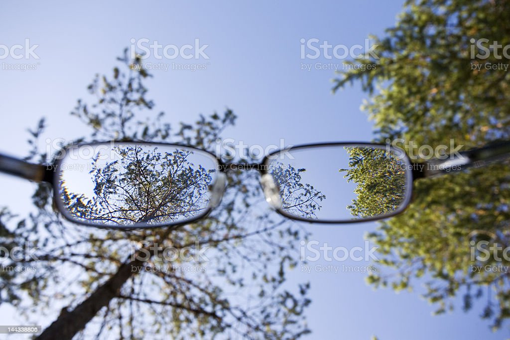 Look through the glasses royalty-free stock photo