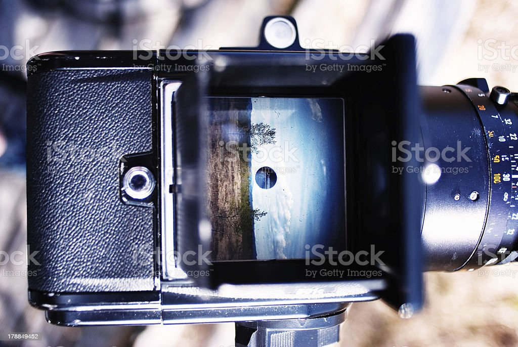 Look through the Viewfinder stock photo