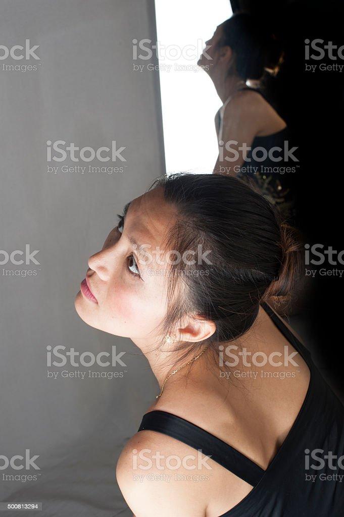 Look upward stock photo