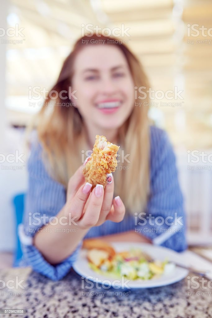 look what i'm eating stock photo