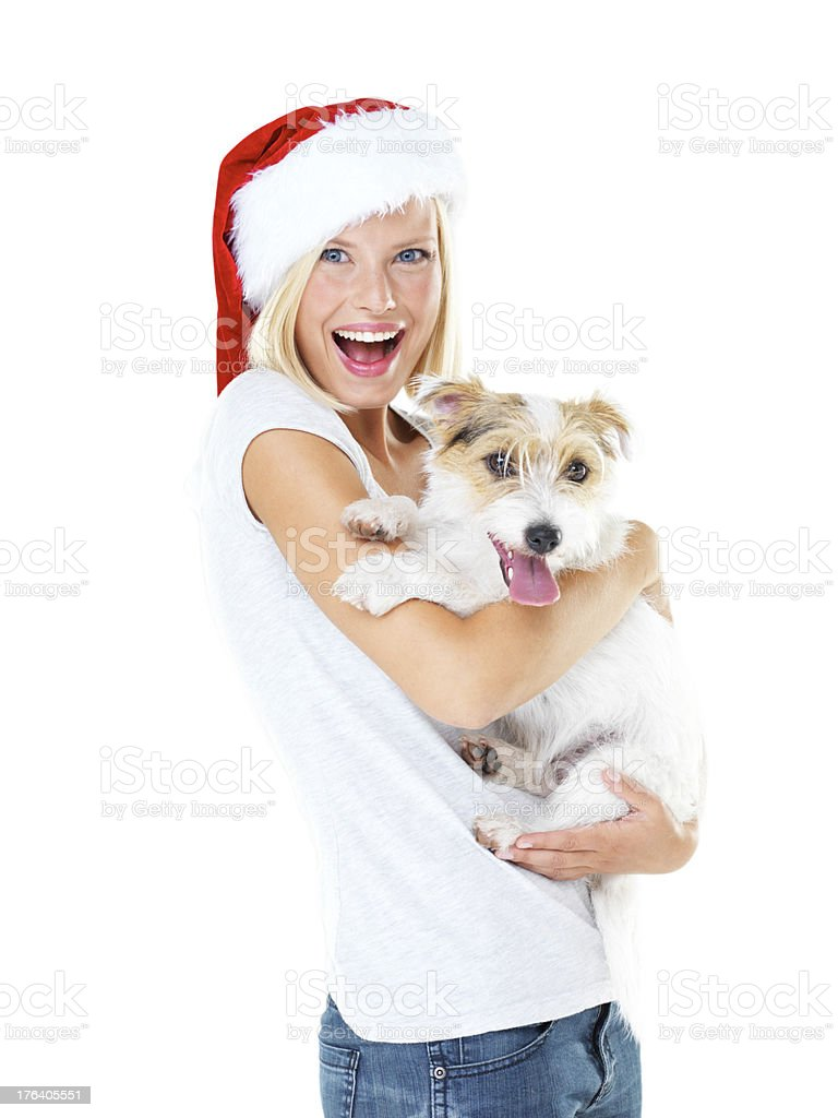 Look what Santa brought me! stock photo