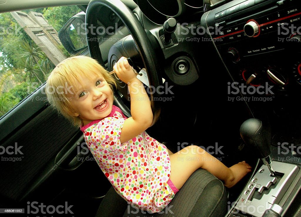 Look who's driving!? stock photo