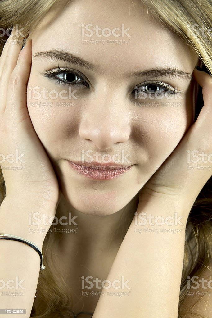 looked beautiful young woman royalty-free stock photo
