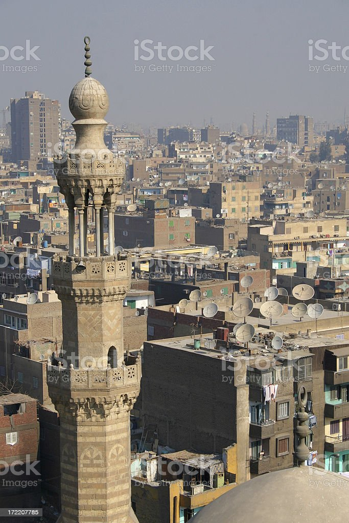 Looking across Cairo royalty-free stock photo