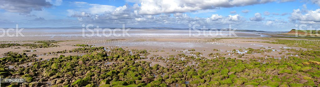 Looking across Morecambe Bay stock photo