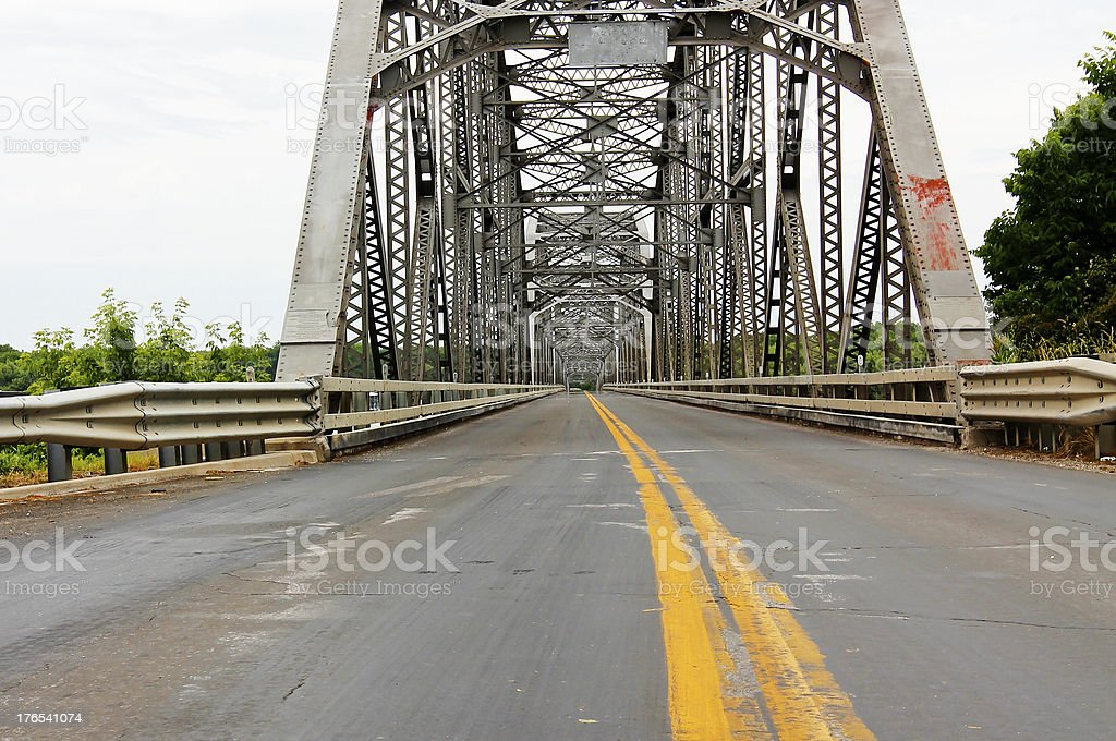 Looking Across the Bridge royalty-free stock photo