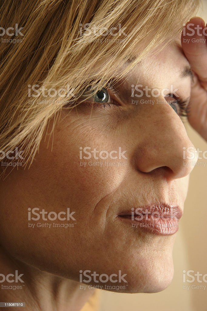 looking ahead - middle aged woman royalty-free stock photo