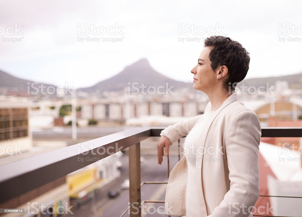 Looking ahead to potential business opportunities stock photo