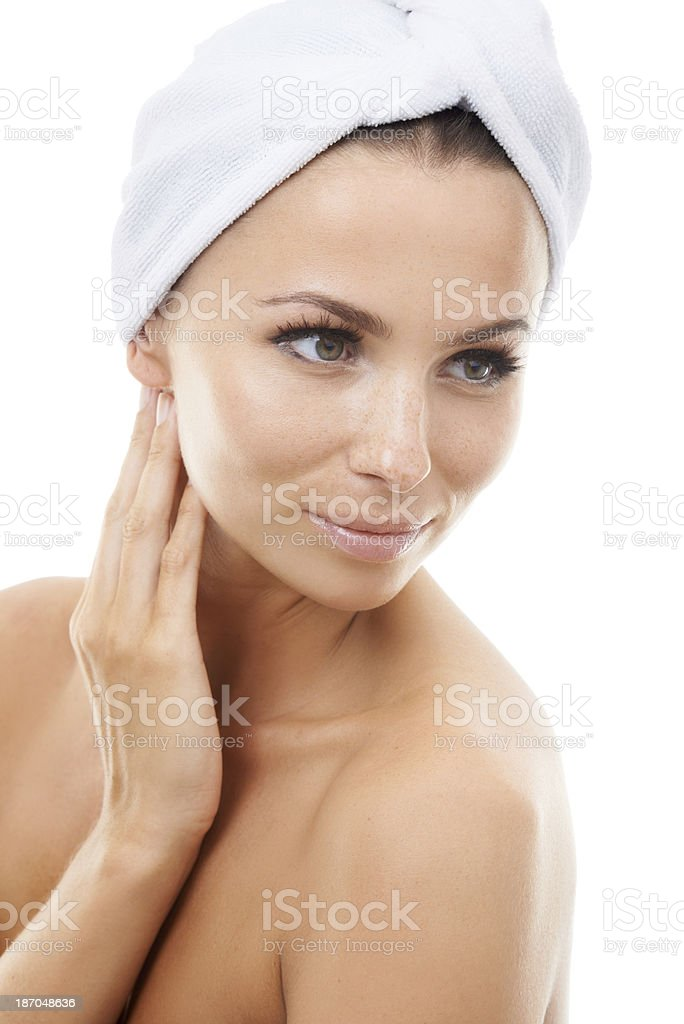 Looking and feeling great after a relaxing treatment royalty-free stock photo
