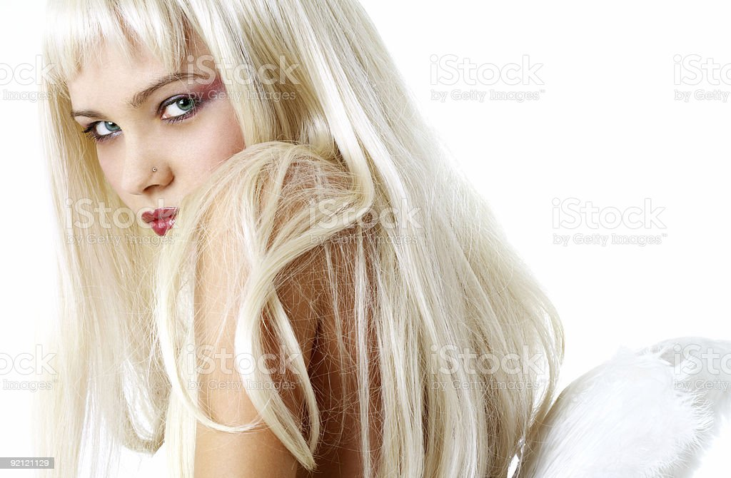 looking angel royalty-free stock photo