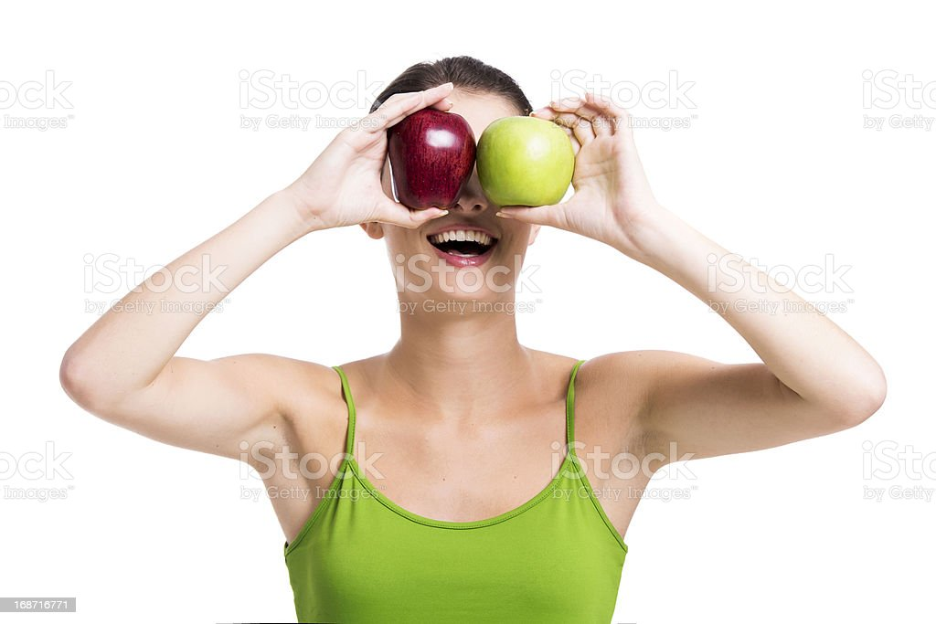Looking apples royalty-free stock photo