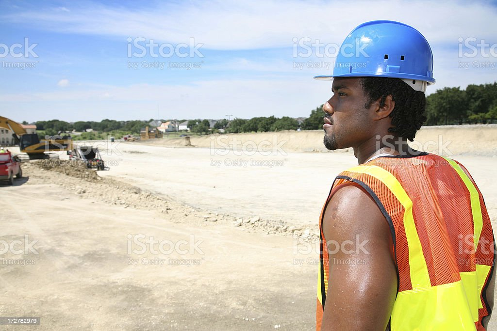 Looking around at work site royalty-free stock photo