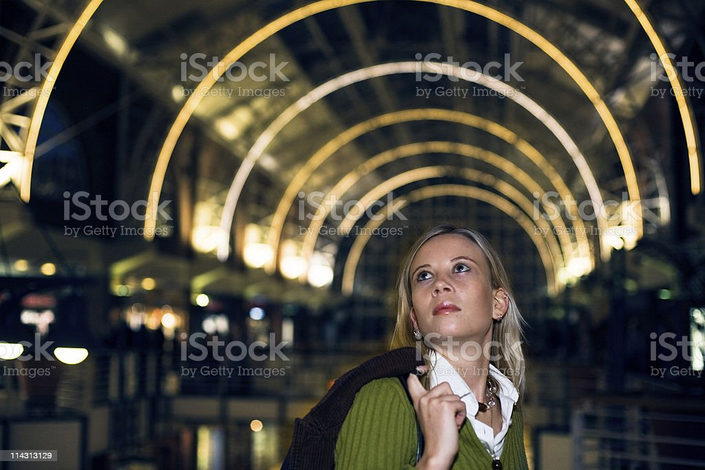 Looking around the mall royalty-free stock photo