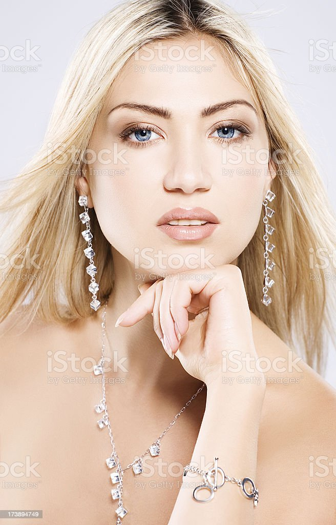 looking at camera woman with beautiful luxury royalty-free stock photo