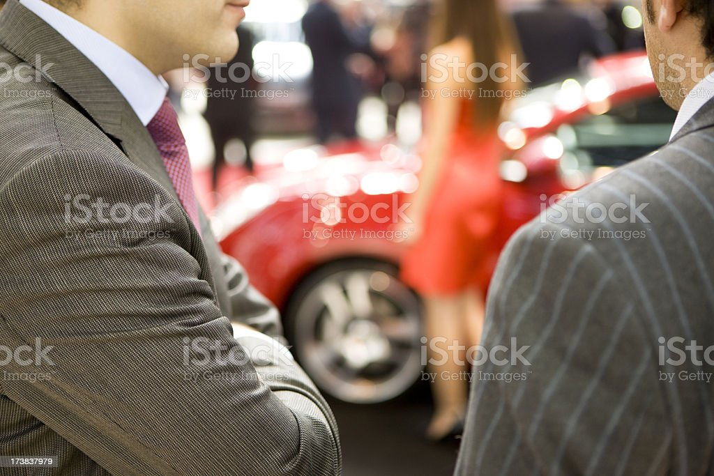 Looking at car royalty-free stock photo