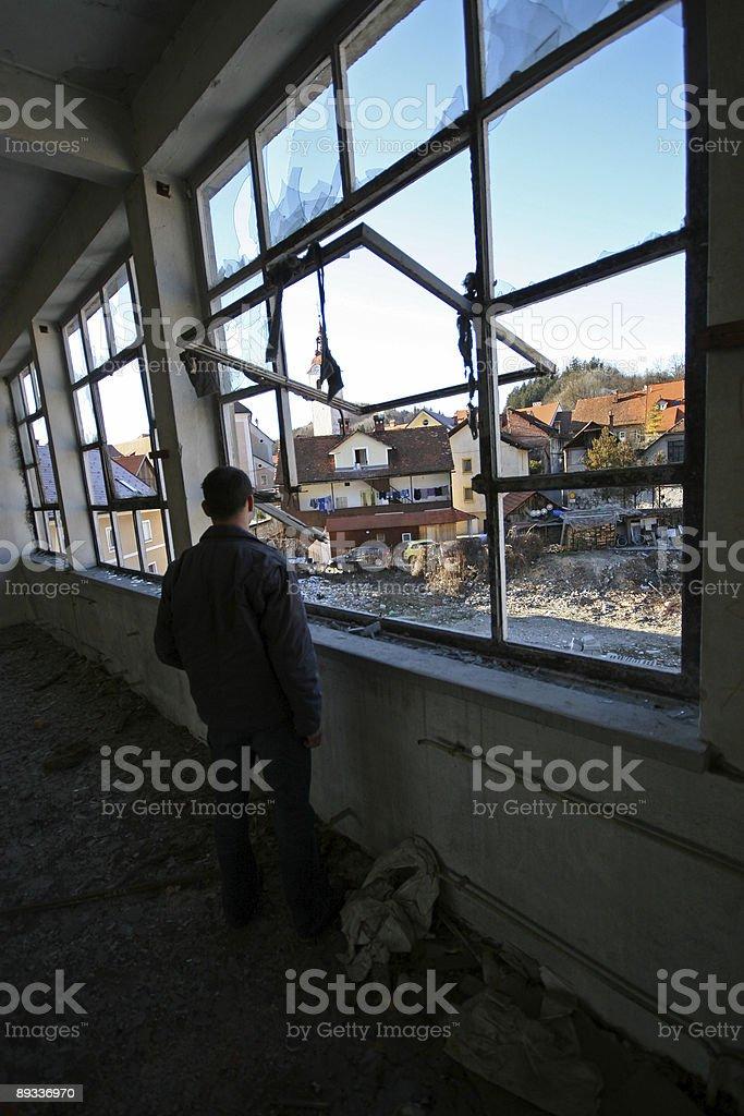 Looking at destruction royalty-free stock photo