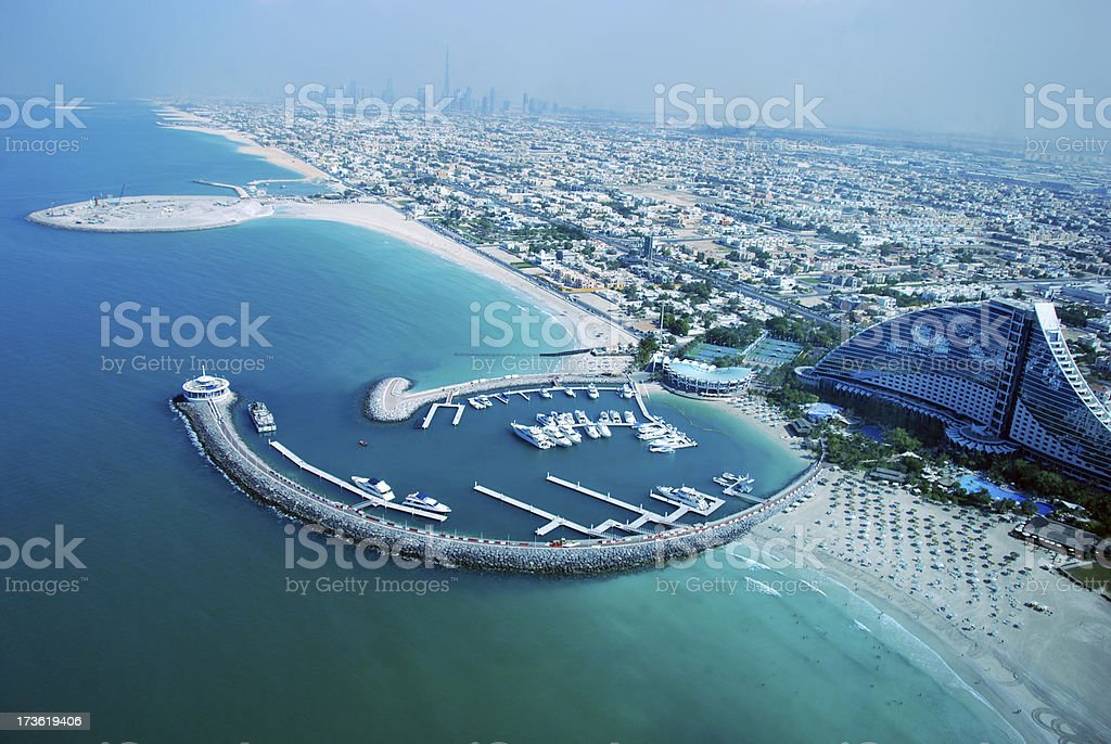 Looking at Dubai - View from Burj al Arab Hotel royalty-free stock photo