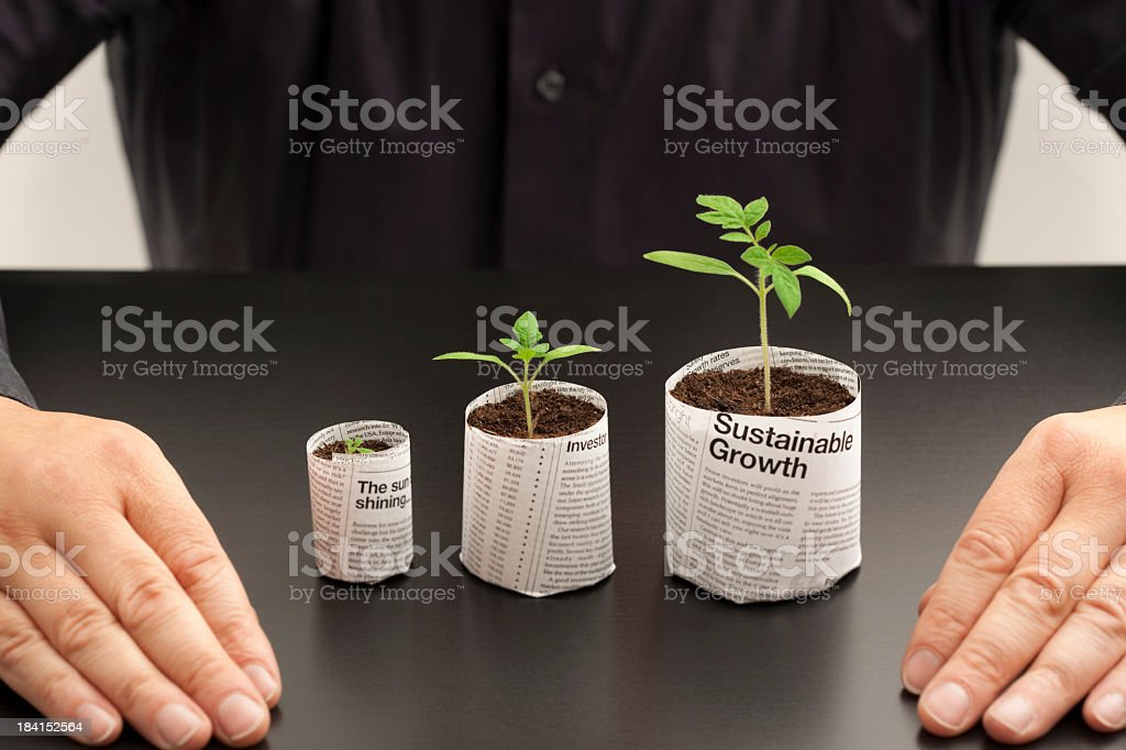 Looking at investment options royalty-free stock photo