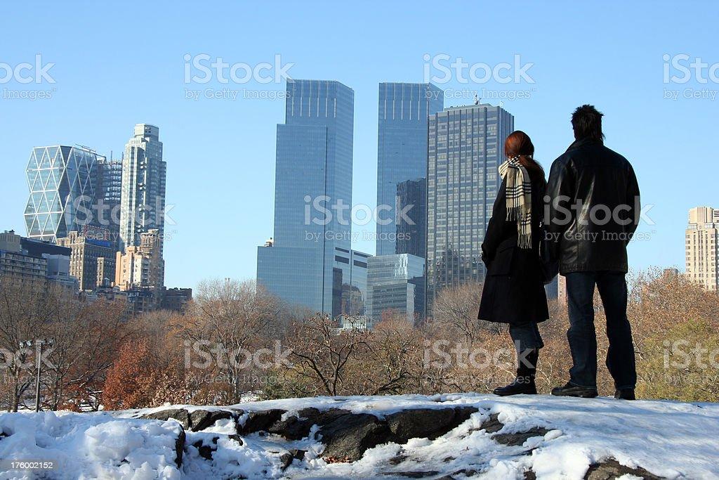 Looking at New York City 2 stock photo