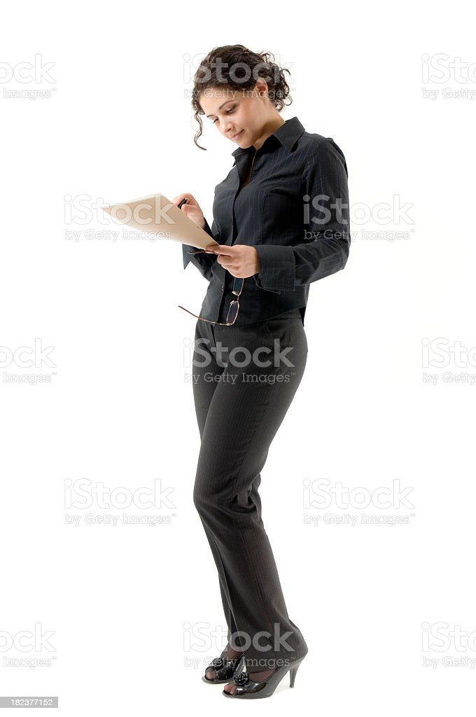 Looking at papers royalty-free stock photo