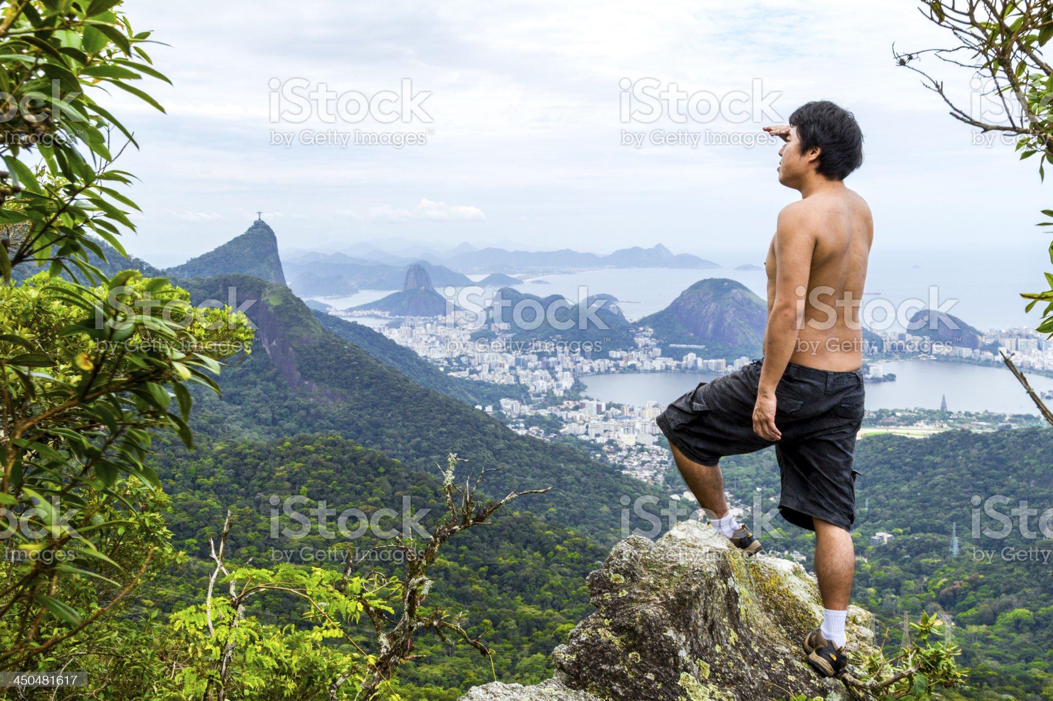Looking at Rio de Janeiro royalty-free stock photo