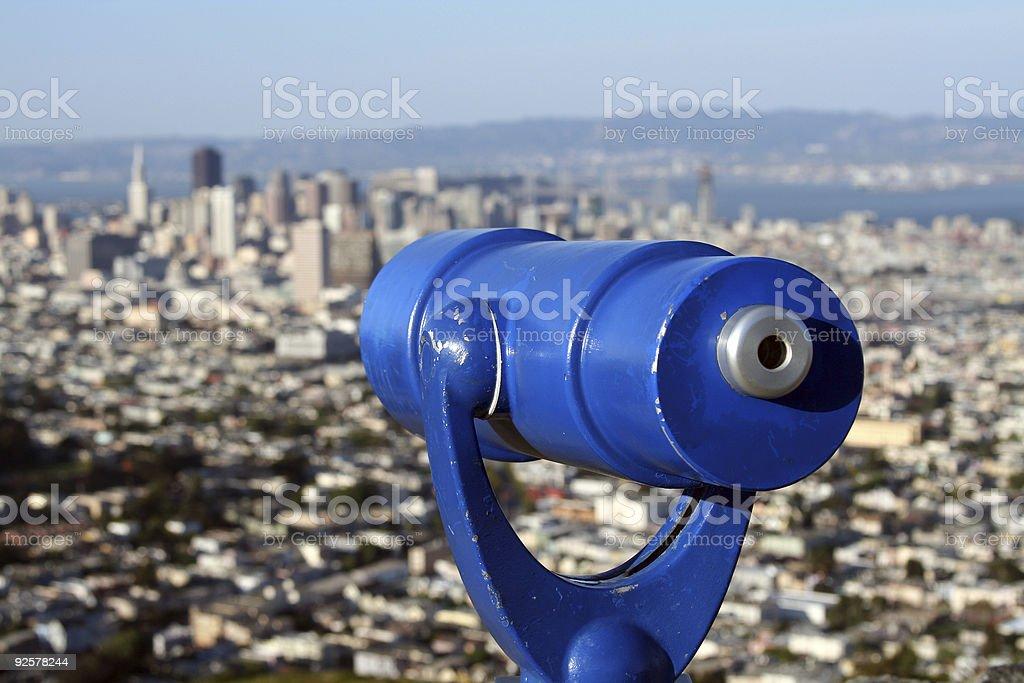 Looking at San Francisco royalty-free stock photo