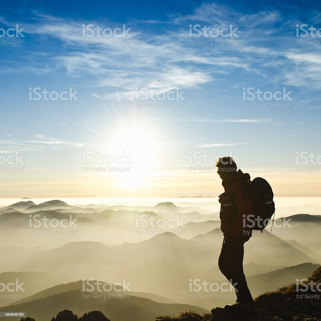 looking at sunrise royalty-free stock photo