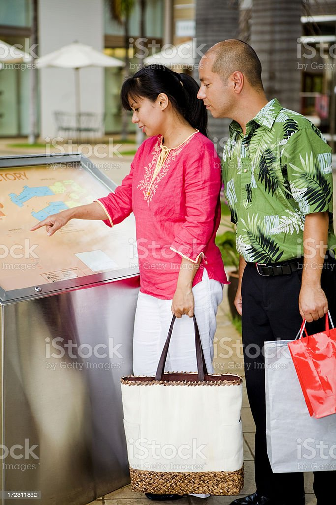 Looking At The Directory stock photo