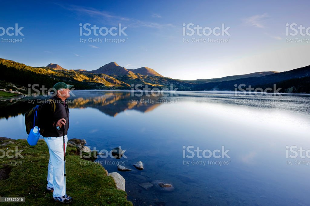 Looking at the future. stock photo