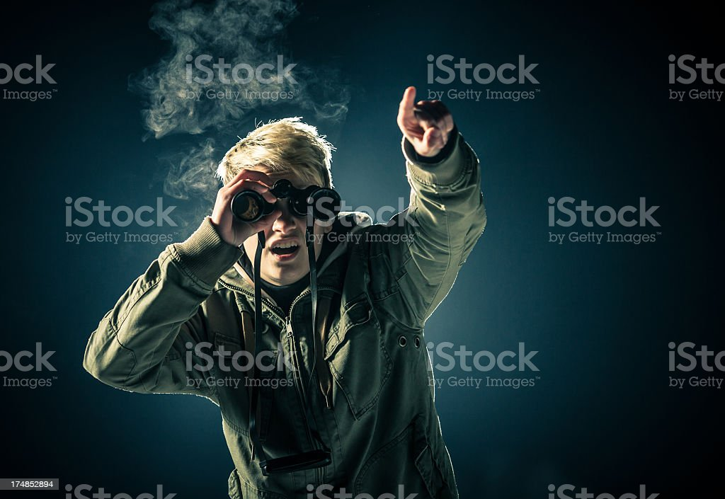 Looking at the future stock photo