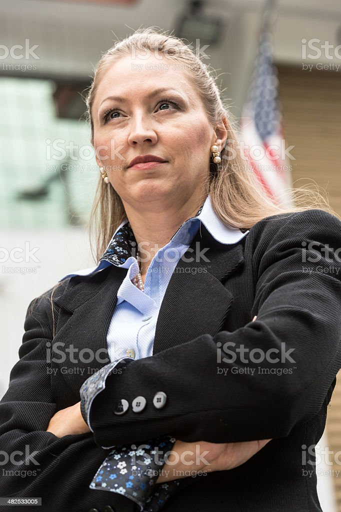 Looking at the future with determination royalty-free stock photo