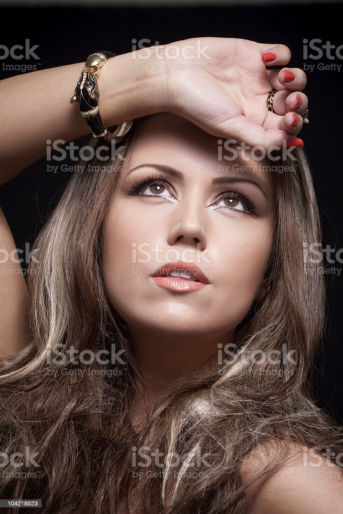 Looking at the light royalty-free stock photo