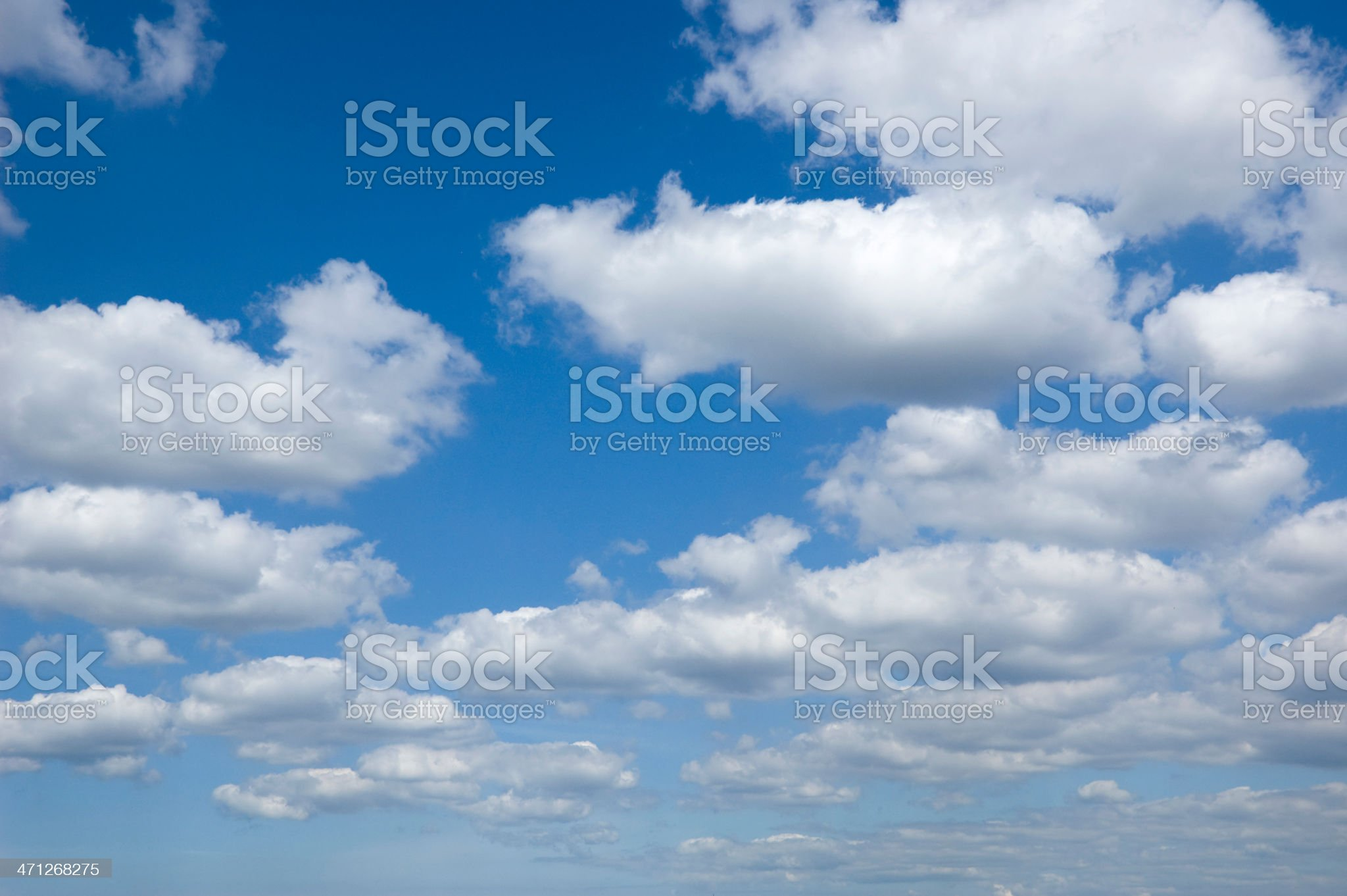 looking at the sky with cumulus clouds royalty-free stock photo