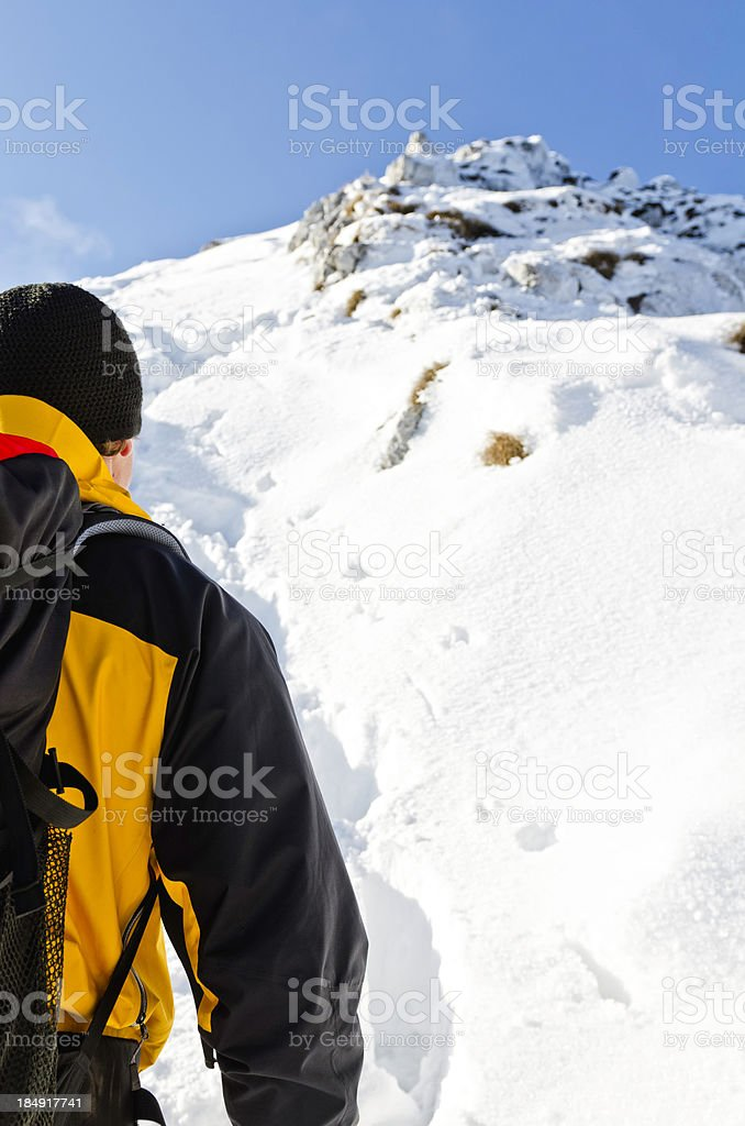 looking at the summit royalty-free stock photo