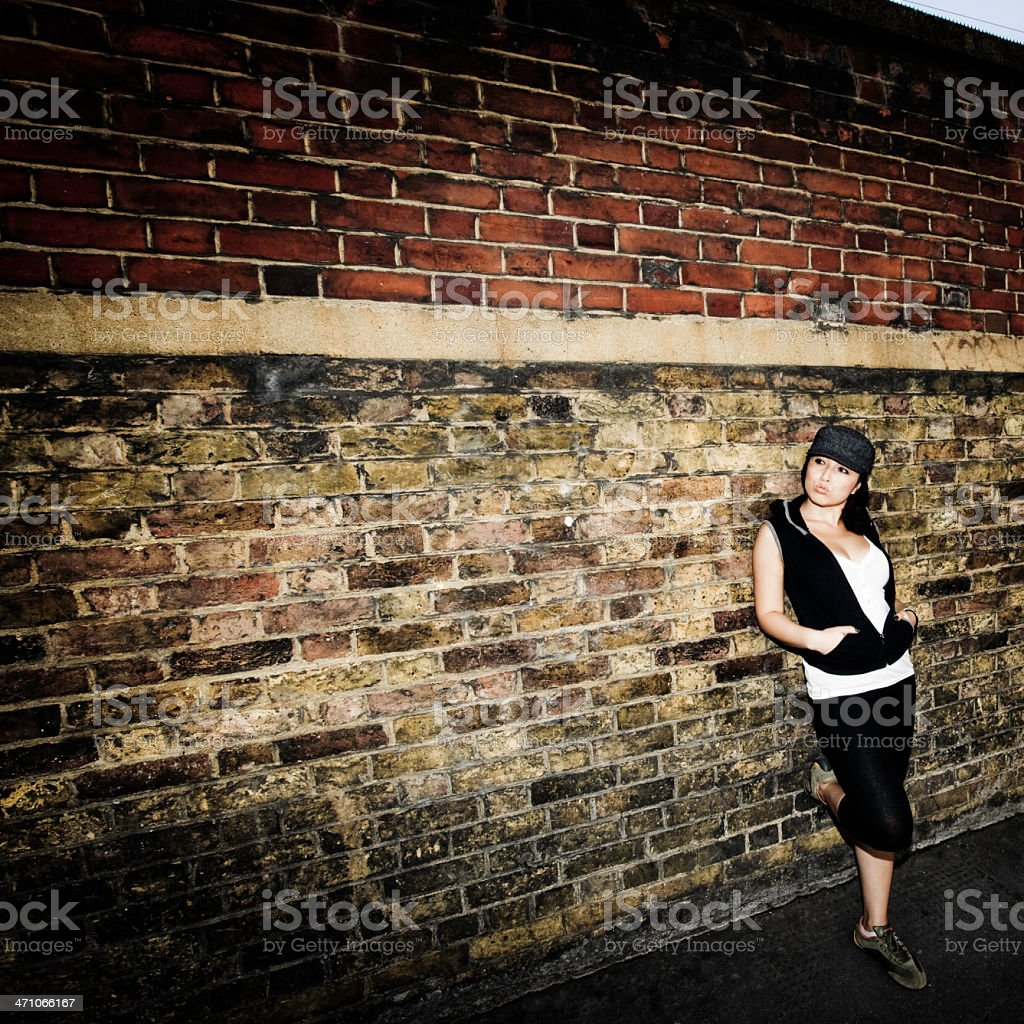 Looking at the Wall royalty-free stock photo