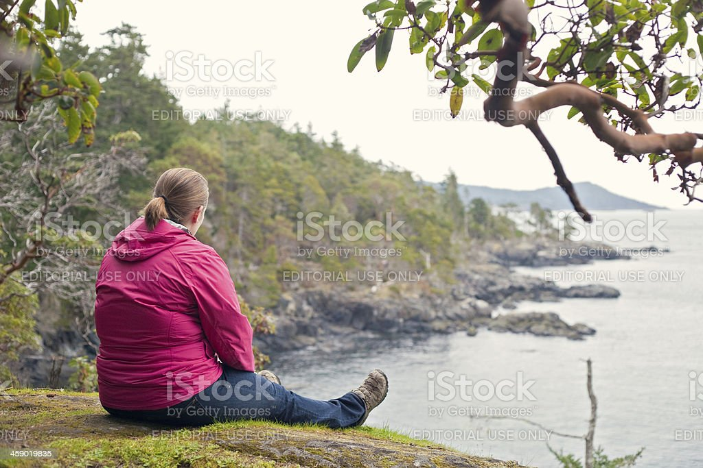 Looking at the Water royalty-free stock photo