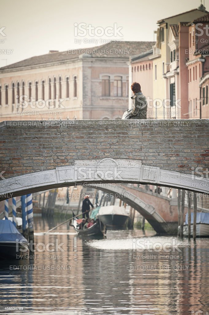 Looking at Venice royalty-free stock photo