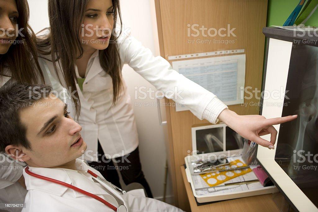 Looking at X-ray royalty-free stock photo