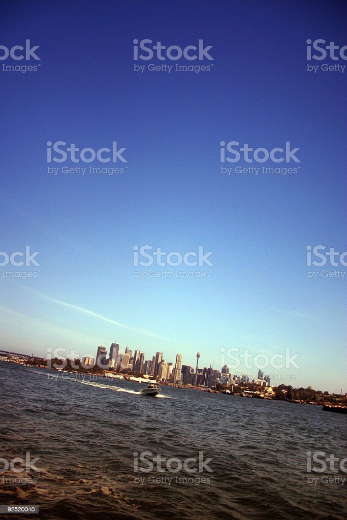 looking back at sydney royalty-free stock photo