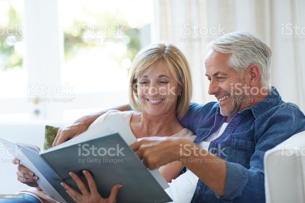 Looking back at the good old days stock photo