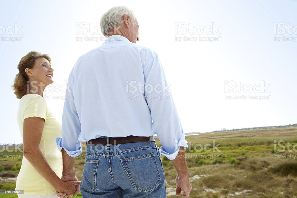 Looking back over their many years together royalty-free stock photo