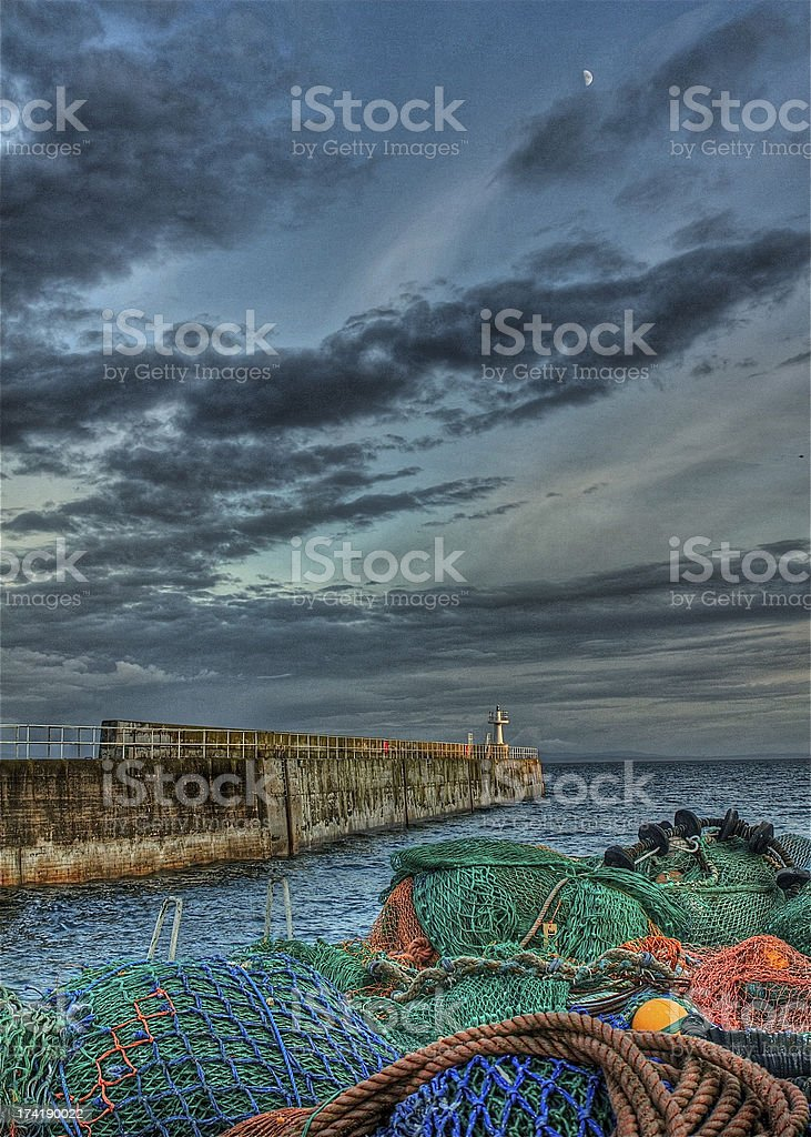 Looking beyond the fishing nets stock photo