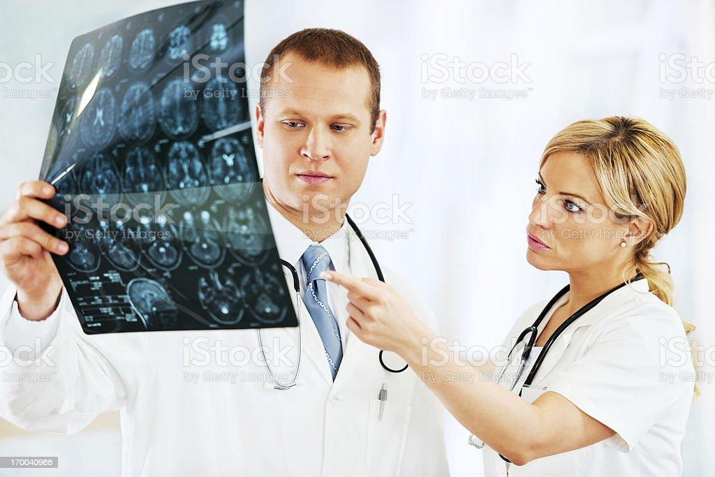 Looking brain in MRI. royalty-free stock photo