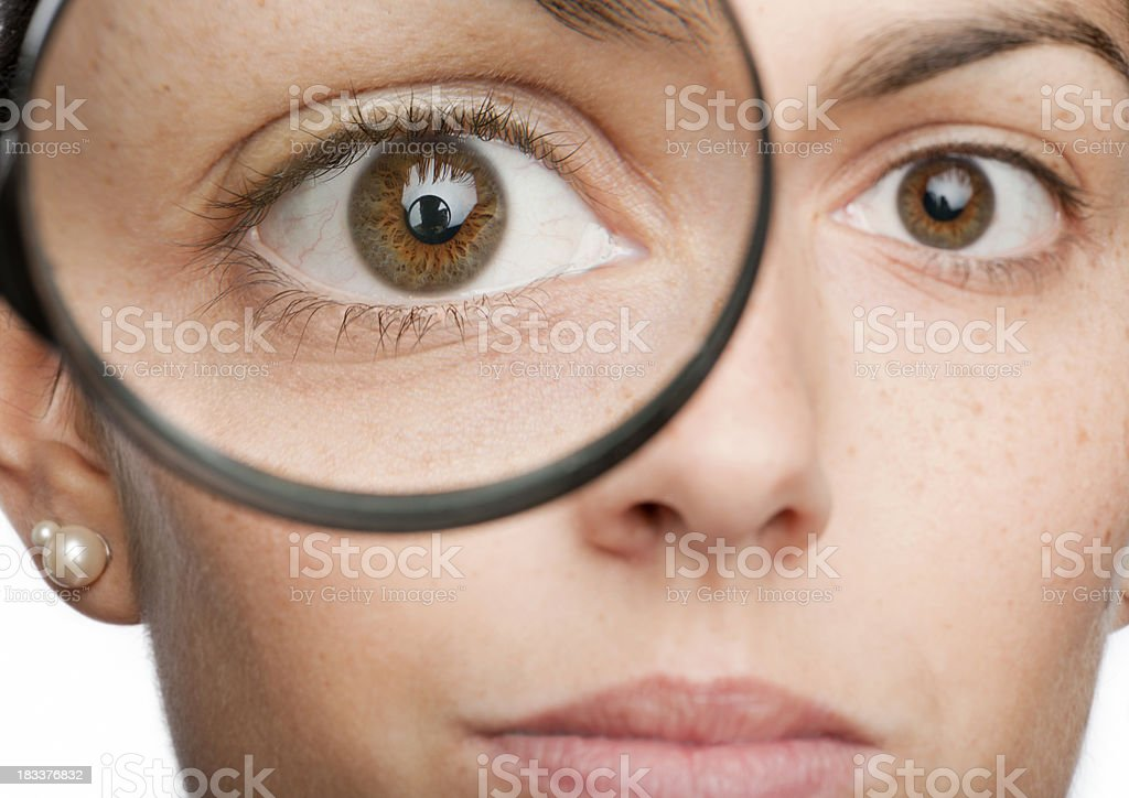Looking closely (XXXL) royalty-free stock photo