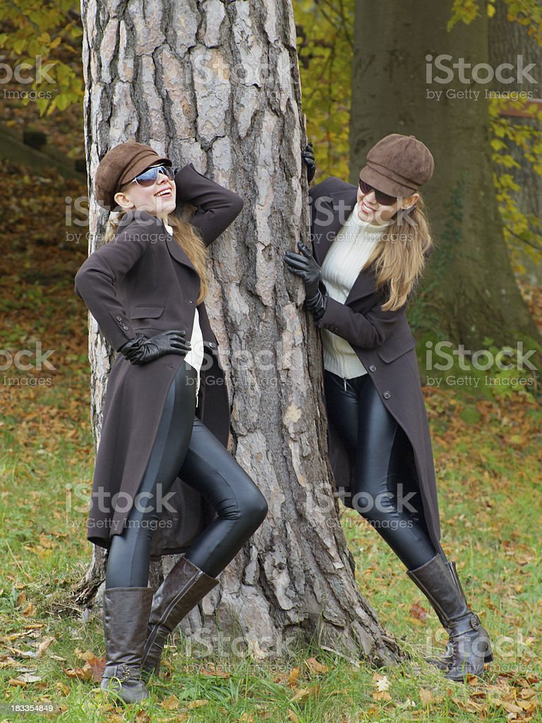 Looking Cool in Autumn royalty-free stock photo