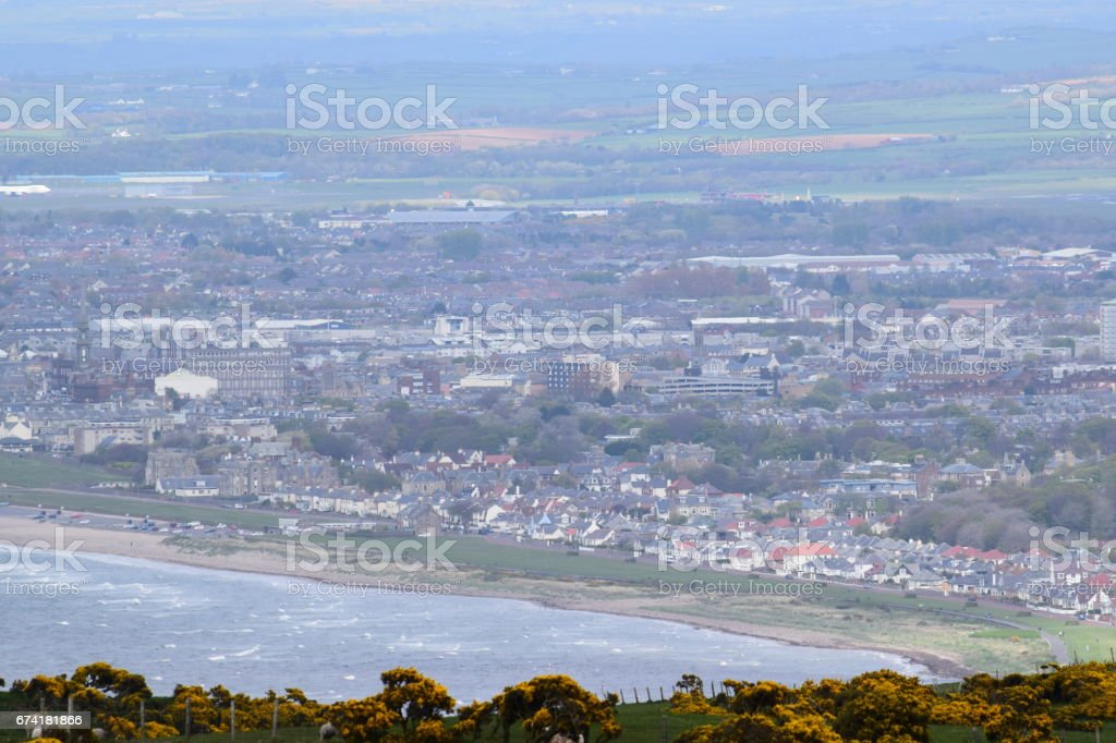 Looking down on Ayr stock photo