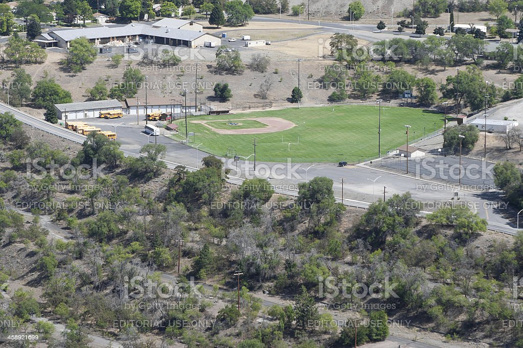 Looking Down On Baseball Field royalty-free stock photo